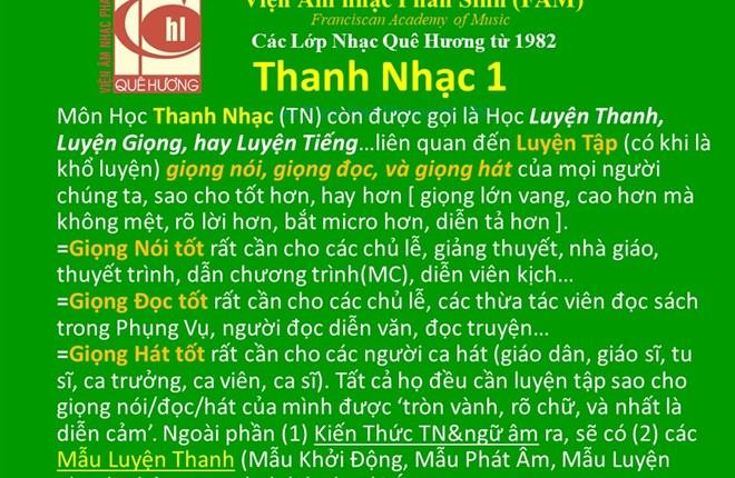 Thanh Nhạc cấp 1 (Luyện Thanh CĂN BẢN). Xuân Thảo Cập nhật 15-8-2021