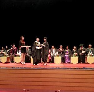 Tham dự lễ Trao bằng  của Khoa Khảo Thí thuộc Trường Âm nhạc LCM (London College of Music Examinations) thuộc Đại học West London - 2
