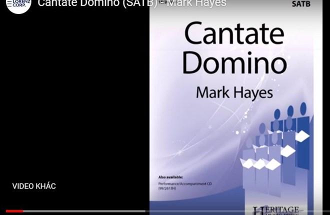 CANTATE DOMINO (SATB) - Mark Hayes 1